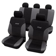 Grey & Black Leather Look Car Seat Covers Washable - For Seat Covers LEON (1P1)