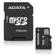 ADATA 16GB microSDHC Flash Memory Card & SD Adapter - Class 4