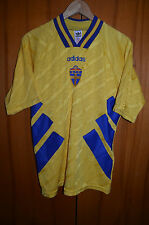SWEDEN 1993/1994 WORLD CUP HOME FOOTBALL SHIRT JERSEY CAMISETA ADIDAS VINTAGE