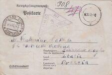 Z2672-II WW.GERMANY, P.O.W.  FROM STAMMLAGER 307  TO QUINZANO ( BRESCIA), 1943