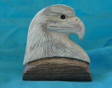 Eagle Head Handmade Moose Antler Carving by artist - Rainy Maki -
