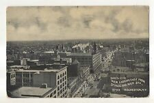 Birdseye View, St Paul and Main Street ROCHESTER NY Vintage New York Postcard