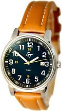 Great Timing GT Unisex Easy Read Numerals Date Watch Tan and Blue GTA9340W-s-blu