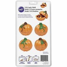 NEW 3D PUMPKIN CHOCOLATE CANDY CONTAINER SURPRISE MOLD HALLOWEEN THANKSGIVING
