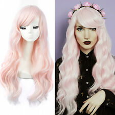 Candy Wavy No Lace Frame Face Wig Long Big Curly Light Pink Hair Heat Ok Wig