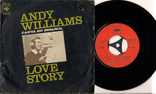 "Andy Williams Love Story (En Español) Spanish 45 7"" single +Picture Sleeve Spain"