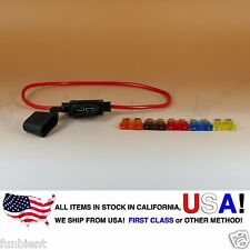 ATO ATC Regular Inline 16AWG Fuse Holder (Water Proof) + 5A 7.5A 10A 15A 20A