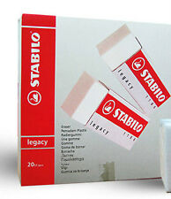 Stabilo Legacy Plastic Erasers (1186) - Box of 20 Erasers