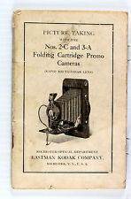 Original Kodak No. 2C & 3A Fold. Cartridge Premo Instruction Manual -  July 1919