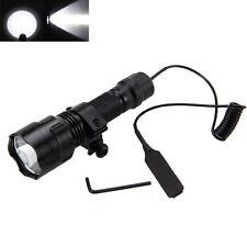 1 Mode 5000lm XML T6 LED Tactical Flashlight Torch Light Hunting Gun Rifle Mount