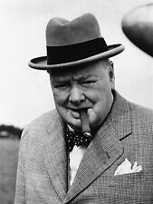 ART PRINT VINTAGE PHOTO WINSTON CHURCHILL CIGAR PRIME MINISTER BRITAIN NOFL0482