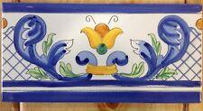 50 Pz.Listelli 10x20 Decorati a Mano Ceramica Vietrese