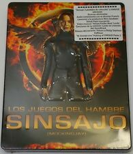 NEW THE HUNGER GAMES MOCKINGJAY PART 1 BLU RAY EMBOSSED METALPAK MEXICO EXCLUSIV