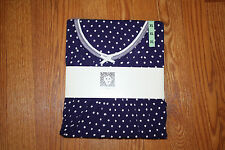 NWT ANNE KLEIN Navy Blue Polka Dot Chemise Nightgown Pajamas Sleepwear 2XL 22-24