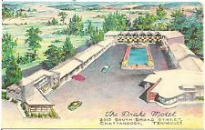 The Drake Motel in Chattanooga TN Artist Walter Bowers Postcard