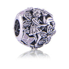 Genuine Pandora Silver Dazzling Daisy Fairy Charm 791841EN68 S925 ALE Authentic