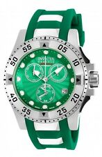 New Women's Invicta 18690 Excursion Reserve Swiss Chrono Green Dial Poly Watch