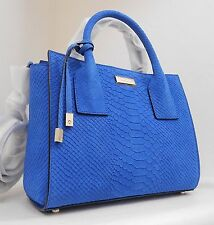 NWT Kate Spade Elsie Street Exotic Small Meriwether Blue Embossed Leather Bag