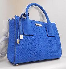 NWT Kate Spade Elsie Street Exotic Small Meriwether Blue Embossed Leather Bag