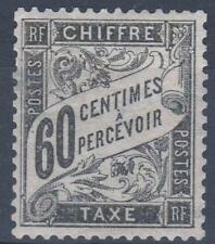 """FRANCE STAMP TIMBRE TAXE N° 21 """" TYPE DUVAL 60c NOIR """" NEUF x TB  M305"""