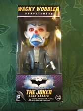 FUNKO BATMAN DARK KNIGHT THE JOKER BANK ROBBER WACKY WOBBLER BOBBLE HEAD DC