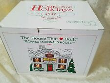 DEPT 56 RONALD MCDONALD HOUSE 1997 THE HOUSE THAT (HEART) BUILT NEW IN BOX 8960