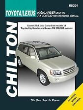 Toyota Highlander (Incl Lexus RS 300/330 1996-06) 2001-2006 (Chilton's Total Car