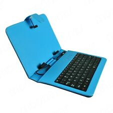 Leather Case Built in Micro USB Keyboard for 7 inch Android Tablet PC Blue