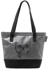 Sourpuss Grey Black Anatomical Skull Tote Bag