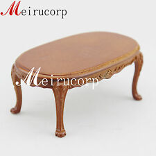 Fine 1:12 scale dollhouse miniature furniture elegant hand carving tea table