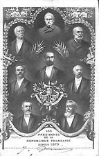 CARTE POSTALE LES PRESIDENTS DE LA REPUBLIQUE 1906