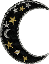 20076 Celestial Sun Moon Stars Badge Applique Heavenly Pretty Sew Iron On Patch