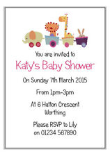 10 Personalised Baby Shower 1st Birthday Party Invitation Cards