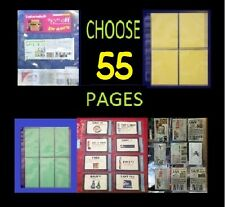 55~ EXTREME COUPON SLEEVES Binder Holder Organizer PAGES SET - Choose ours!