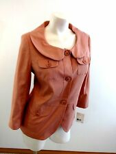NWT $74 LIZ CLAIBORNE AXCESS WOMENS PINK LINEN BLEND COAT JACKET SIZE 10 CUTE!