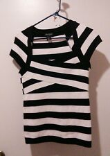 White House Black Market size small Black and Ivory Cap sleeve top.