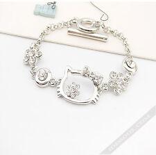 Hello Kitty SILBER Armband Armkette Schutzengel Glücksbringer Schmuck  LA FERANI
