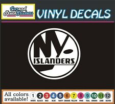 "4""tall New York Islanders NHL Team Hockey Vinyl Car Decal window bumper sticker"