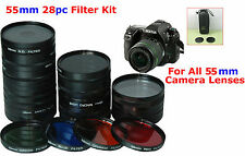 55mm 28pc Filter Lens Kit set camera Lens SONY ALPHA DSLR-A350 A100 A200