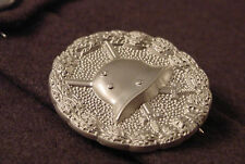 GERMAN WWI IMPERIAL WOUND BADGE - SECOND CLASS- SILVER  - REPRODUCTION