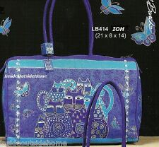 Laurel Burch Indigo Cats Large Travel Tote Weekend Bag New