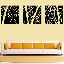 3 Pcs Large Bamboo Wall Stickers Removable Art Vinyl Decal Home Decor Mural DIY