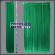 Light Green Hair Weft Extention (3 pieces) - 60cm High Temp - Cosplay 7_GGE