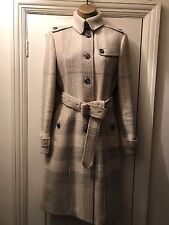 BURBERRY LONDON CLASSIC WOOL & CASHMERE COAT WOMENS UK SIZE 8 / US 6