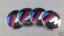 338- 6.5 cms ALUM STICKON ALLOY WHEEL RIM CENTRE HUB CAP CAPS ///M BMW SPORTS M3