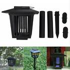 LED Solar Powered UV Mosquito Insect Pest Bug Zapper Killer Garden Lawn Light