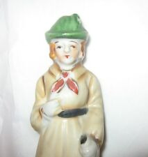 Occupied Japan Figurine Woman with Walking Stick