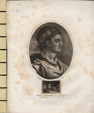 1806 DATED GEORGIAN PRINT ~ OTHO I EMPEROR OF GERMANY ~