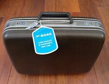 VINTAGE SAMSONITE TRAVEL VANITY CABIN CASE WITH ORIGINAL BOAC TAGS