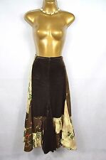 GOYA London Designer boho embroidered fishtail skirt UK 16 Steampunk